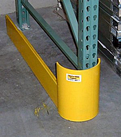 Curved End Of Aisle Rack Guard On Quot Save Quot Ty Yellow Products